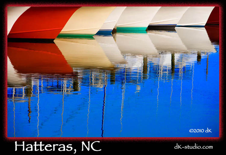 Hatteras Boat Reflections
